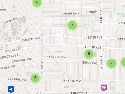Marillac, cuyahoga food pantry web map